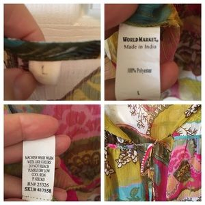 Cost Plus World Market Tops - GORGEOUS Sheer Floral Kimono Top By World Market